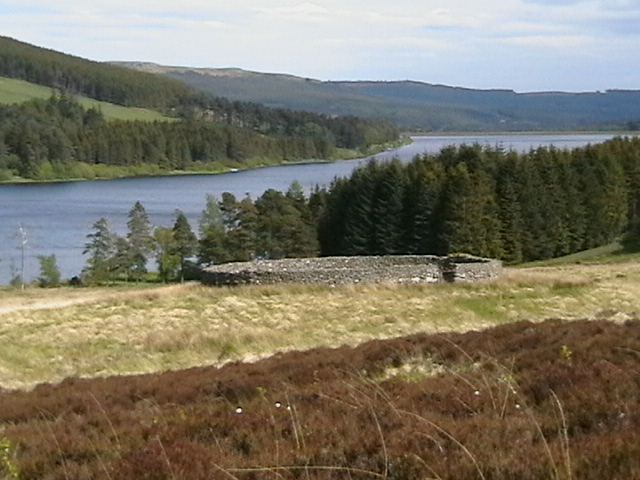 Stelling to the north of Catcleugh Reservoir