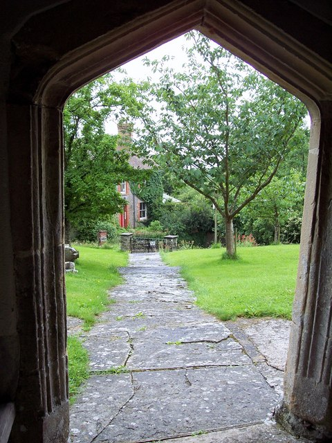 View from the South Porch of St John the Baptist Church