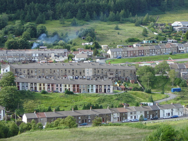 Terraced houses in Cwmparc