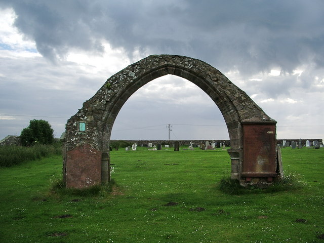 Stone arch,St Bridget's Church, Moresby