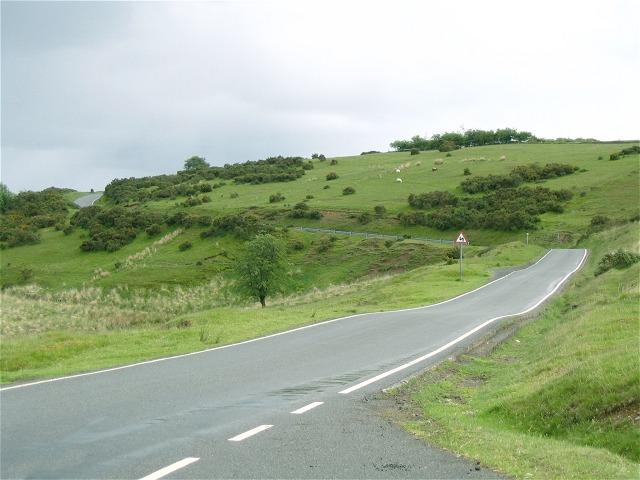 Road through Sennybridge Training Area