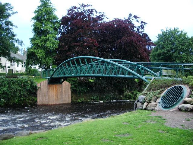 New  footbridge over the River Greta