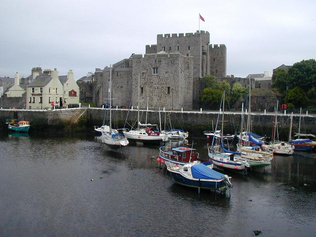 Castle Rushen, and Castle Arms Hotel (Gluepot), Castletown