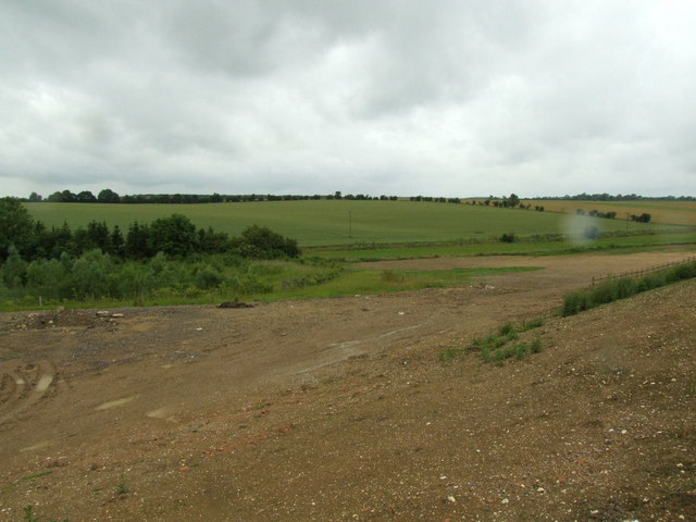 Work area for the Papworth bypass