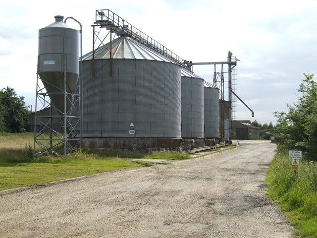 Grain silos at Grange Farm