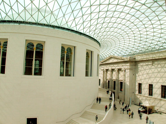 British Museum - Great Court roof and Reading Room