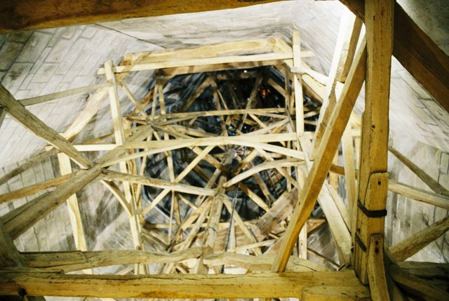 Inside the apex of the spire
