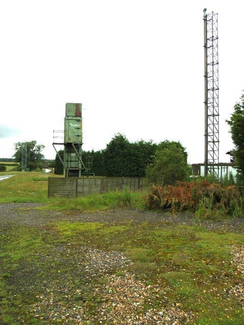 Old mast and tower at Gransden airfield