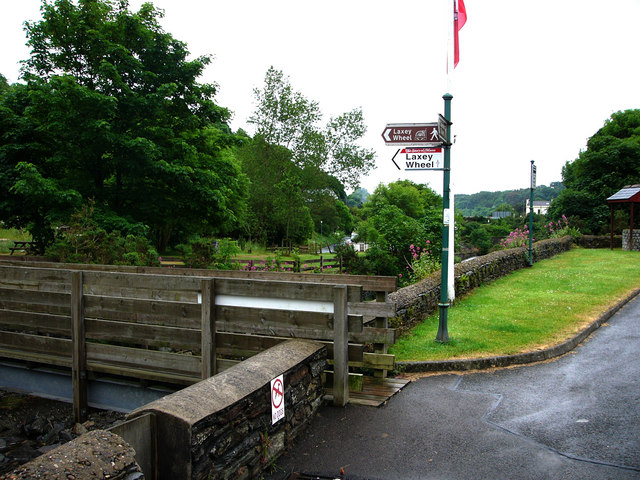 Footpath from carpark to Laxey Wheel