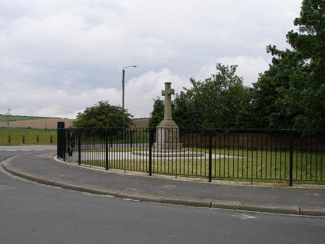 War Memorial at the road junction