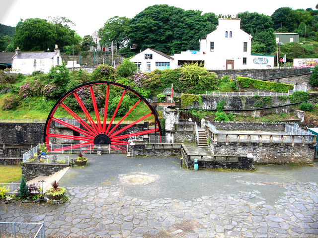 Snaefell Wheel, in Laxey Valley Gardens