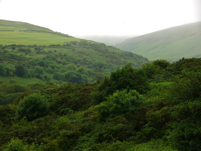 looking up Laxey Glen from Lady Isabella