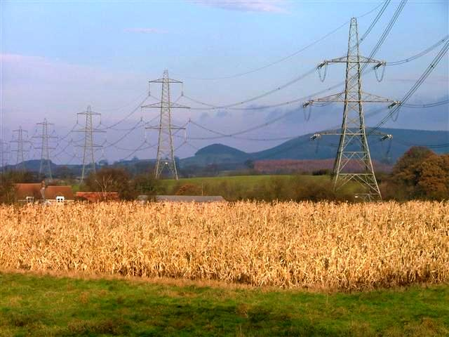 Pylons Near Atley Field Farm