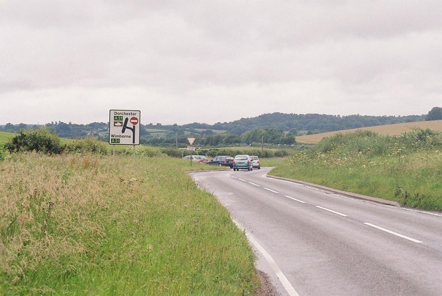 Approaching the A31 from Winterborne Kingston