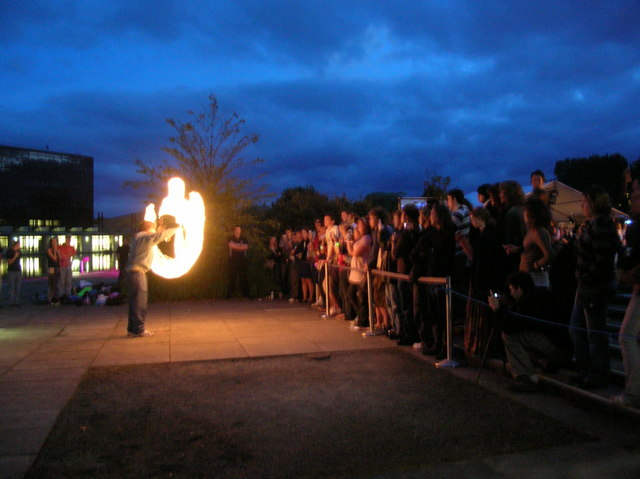 Fire juggling - Woodstock 2007