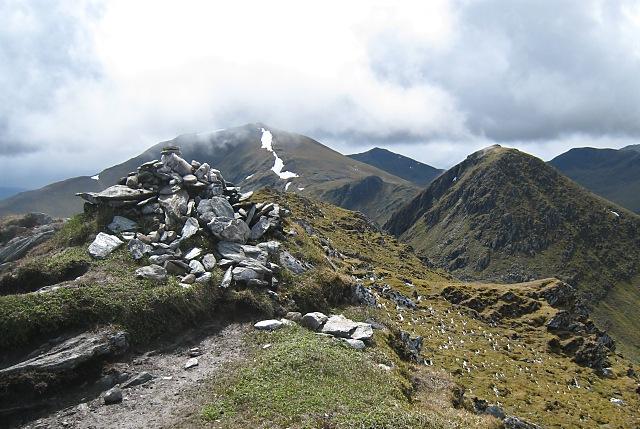 Meall Garbh - summit cairn