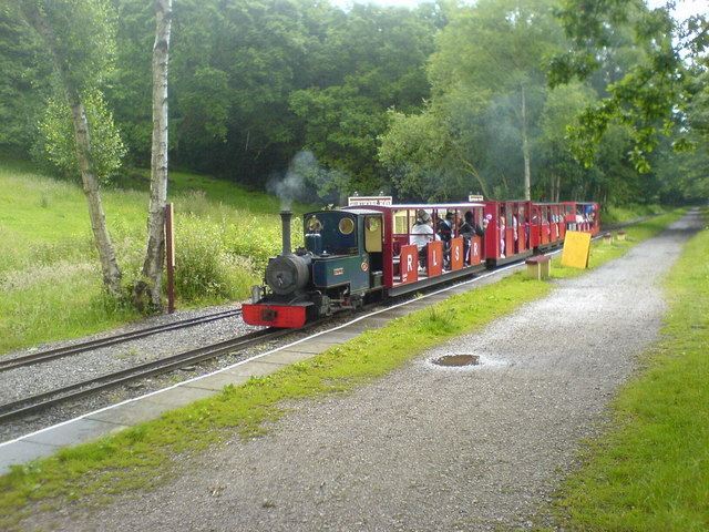 Rudyard Lake Steam Railway Train at Hunthouse Wood Station