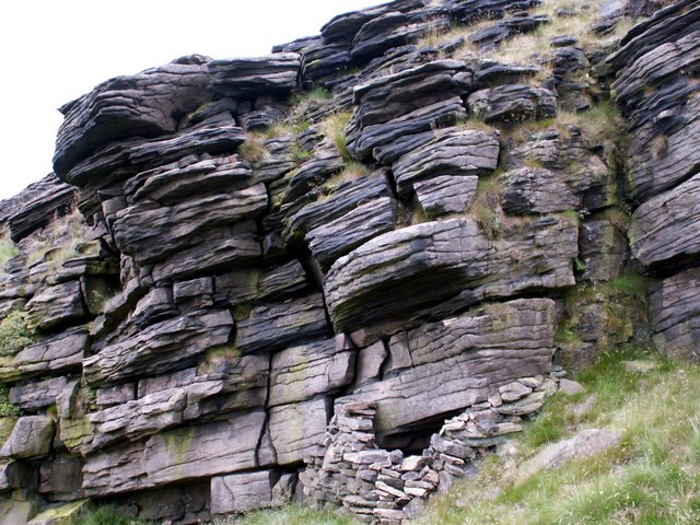 A Rock Formation high above Yellow Slacks brook