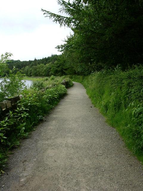 footpath around Turton and Enwistle Reservoir.
