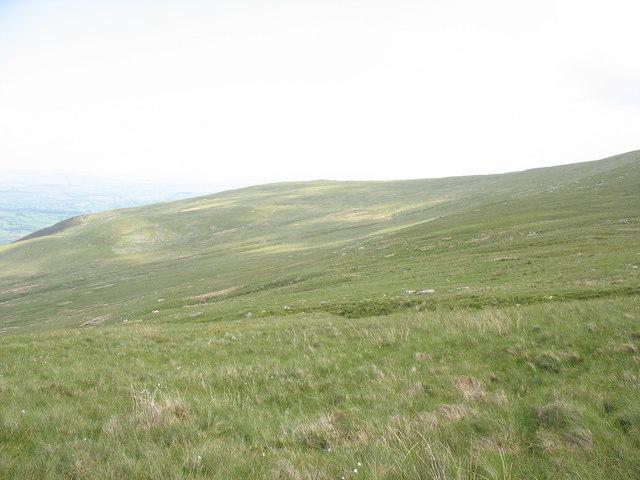 View NE across Nant Waen-lwyd towards Rhos Goch