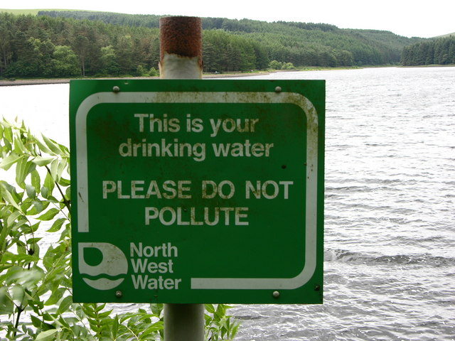 Sign next to Turton and Entwistle Reservoir