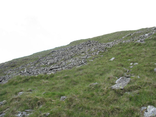 Boulder field on the southern slope of Foel Fawr