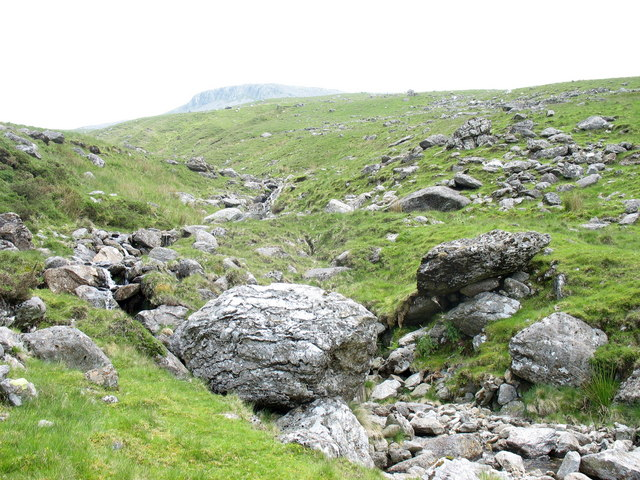 Boulder strewn course of Nant Cwm y Dolau