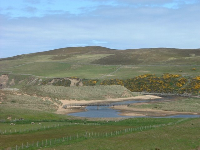 The Halladale River just before Melvich Bay