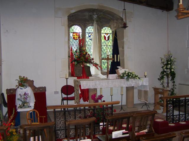 Interior of Bewerley Grange Chapel