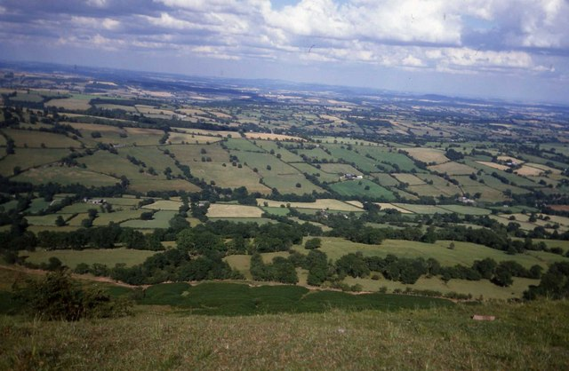 View across the Monnow valley from the Cats Back