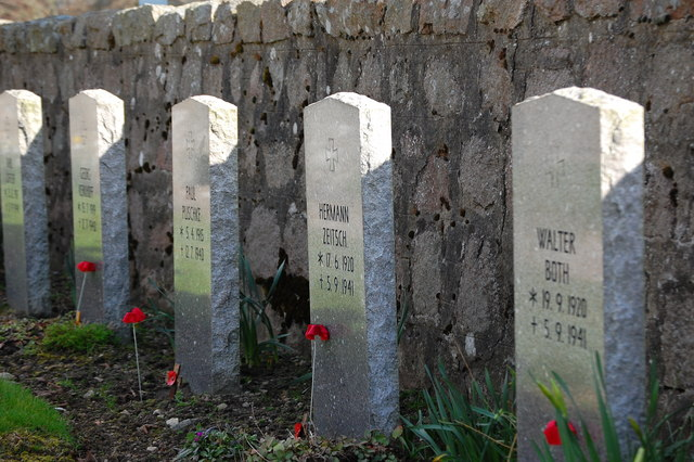 German pilots' graves at Dyce war cemetery