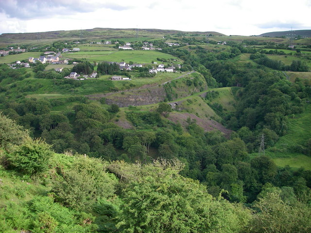 View across the Clydach Gorge