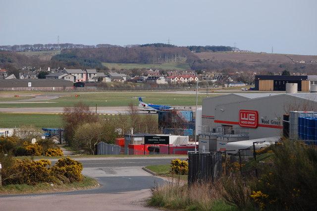 North end of Aberdeen Airport main runway