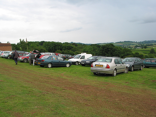 Temporary car park, Linton Festival