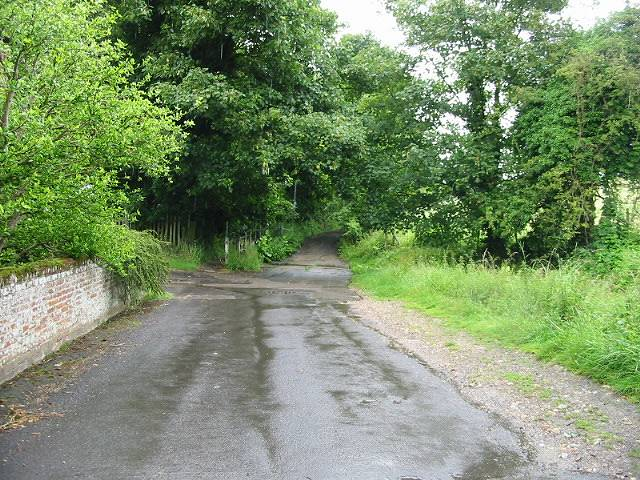 View along Old Palace Road, Patrixbourne