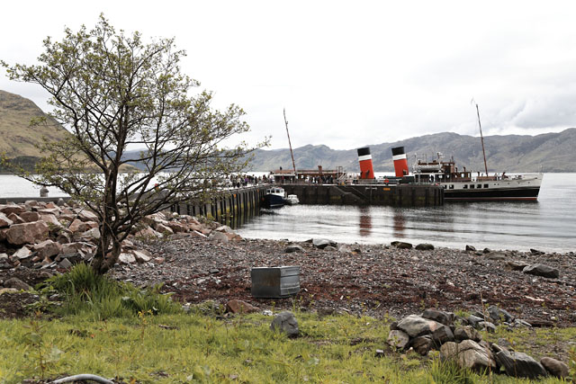 PS Waverley at Inverie Pier