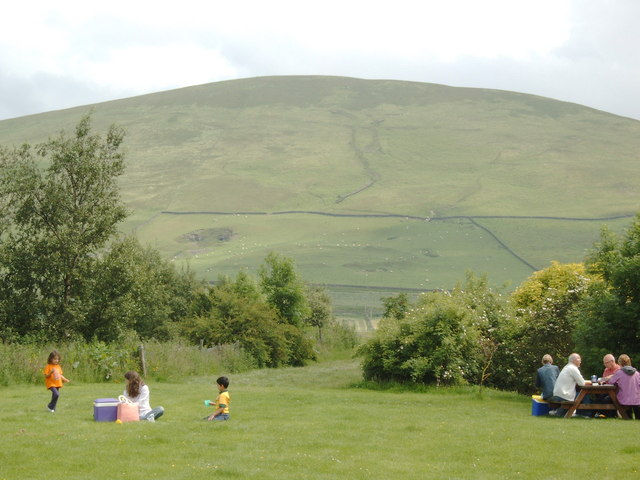Picnic area at Abington Services