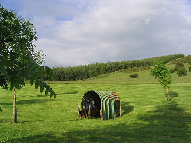 A shelter at Galashiels Golf Course