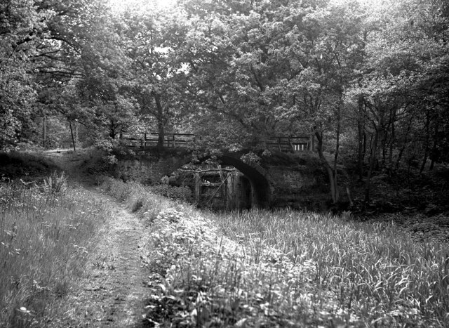 Cowshot Bridge and Lock, Basingstoke Canal