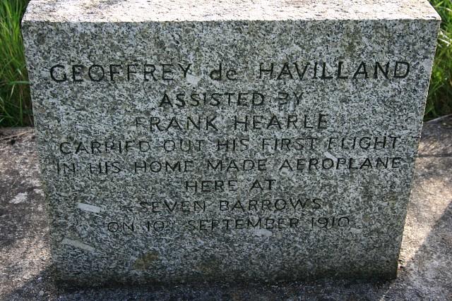 Monument to Geoffrey de Havilland