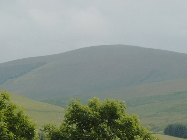 Tewsgill Hill seen from Abington Motorway Services