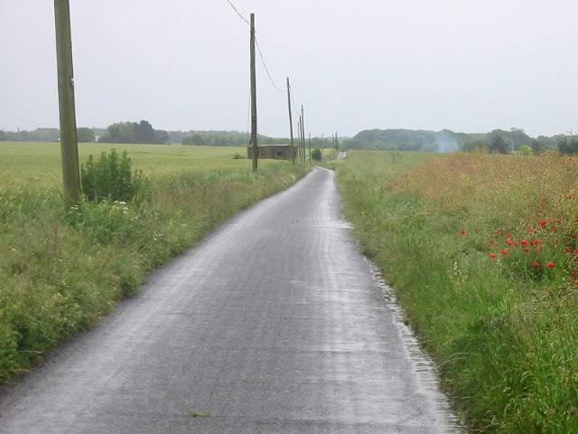 View along Shepherds Close Road