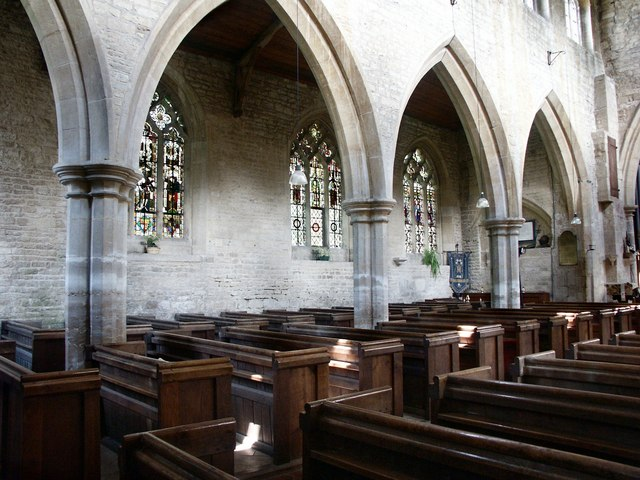 Interior of St Michael & All Angels, Heydour