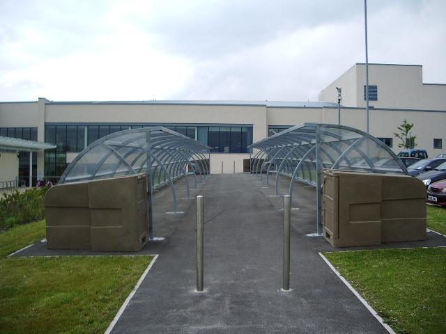 Bike sheds, The Royal Blackburn Hospital