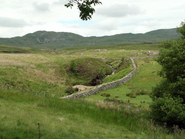 Afon Llafar with Mynydd Maentwrog in background
