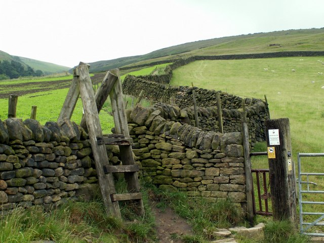 Over the stile or through the gate.