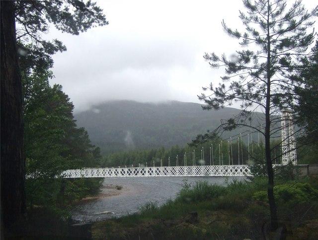 Garbh Allt Shiel footbridge