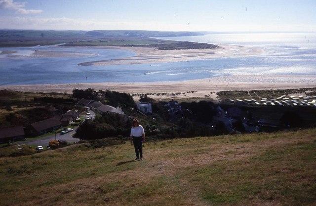 View across Afon Dyfi from above Aberdyfi