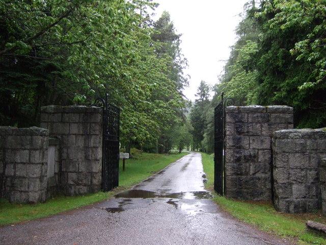 Entrance to Invercauld estate