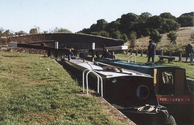 Oakhill Down Lock - No.68 - Kennet & Avon Canal - 2003